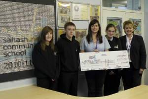 Charlotte Gregory cheque presentation