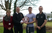 Memorial Award presented to outstanding sports personality: Sam Church