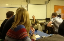 Roger Creagh-Osborne visits saltash.net Politics students
