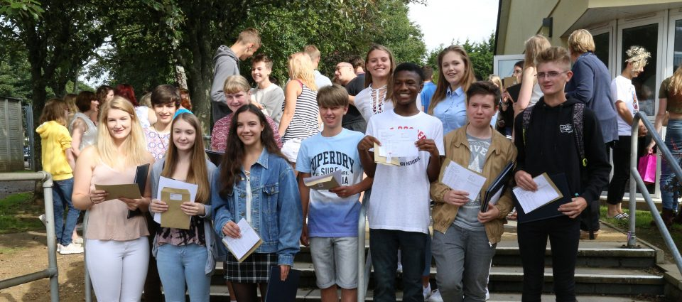 GCSE students at saltash.net celebrate their exam results