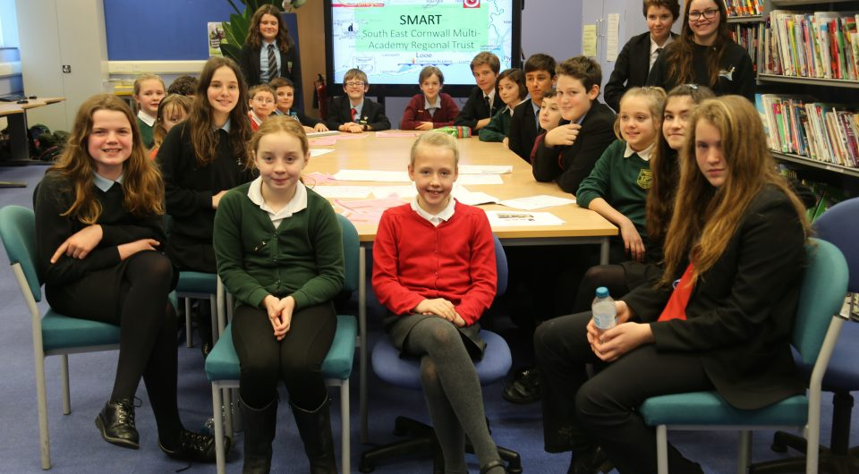 SMART students at a school council meeting