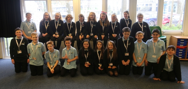 Students from saltash.net who took part in BBC School Report 2017