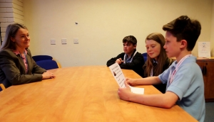 Year 7 students interview Ms Littledyke