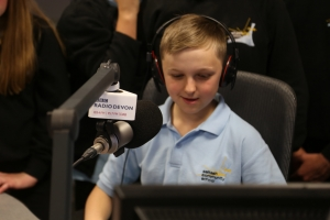 A saltash.net student in the BBC Radio Devon studio