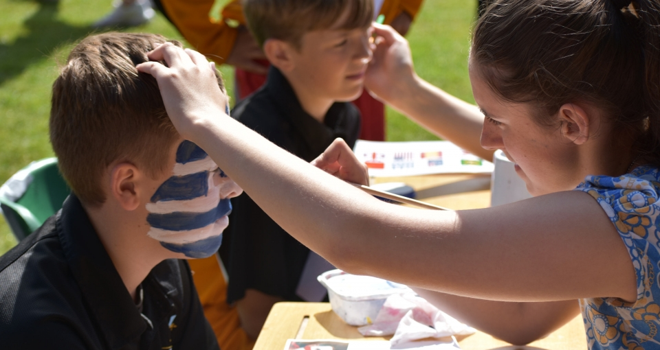 Face painting at Sports Day