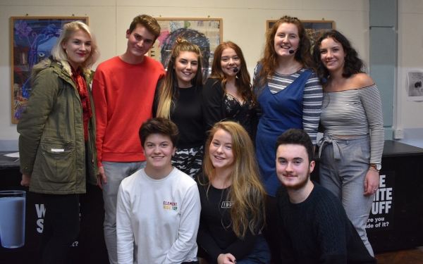 Sixth Formers responsible for organising the event