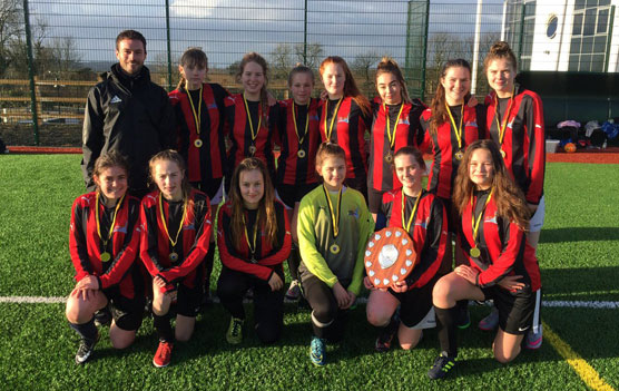 Saltash.net under-16 girls football team crowned as County champions