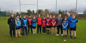 Saltash.net students and Head of PE Mr Hawkins with Exeter Chiefs and England rugby stars