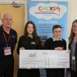 Saltash.net present cheque to CHICKS