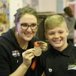 Olympic medallist Cassie Patten works with Year 7 students