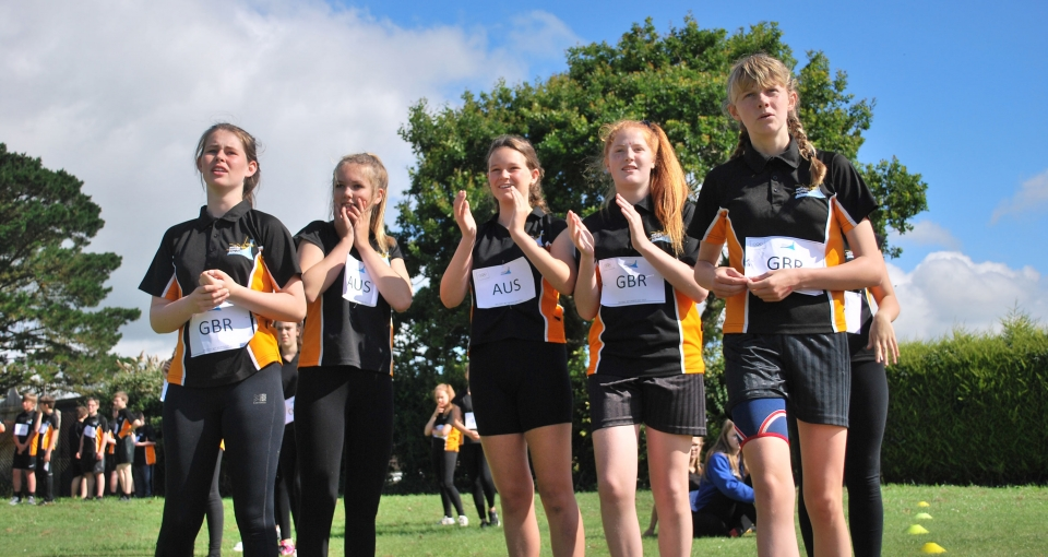 Students watch on at Sports Day 2017