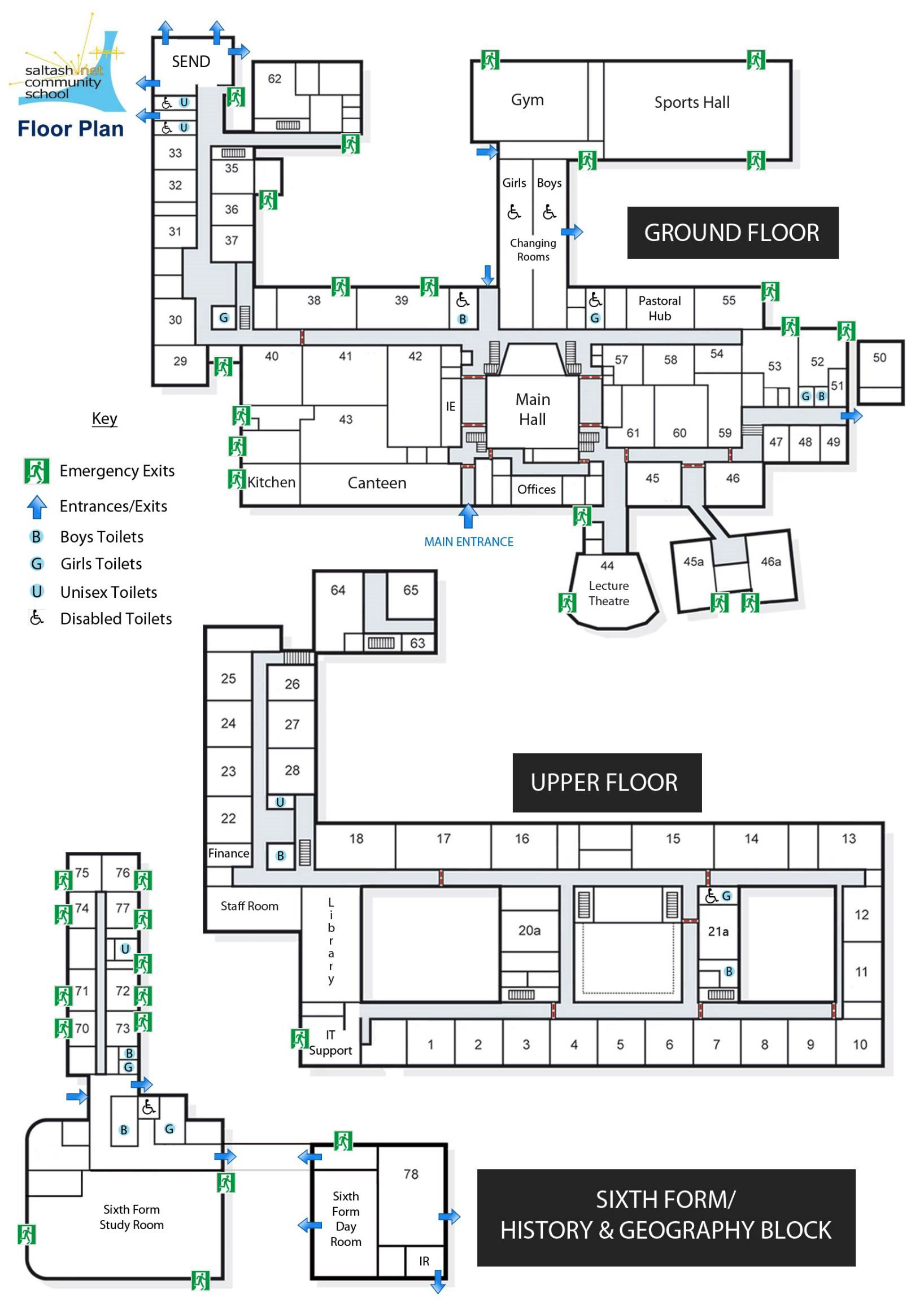 School Interactive Floor Plan